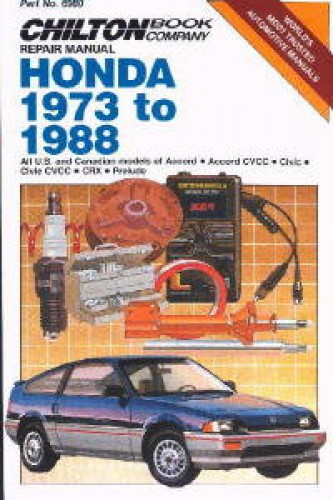 Chilton Honda Accord Civic CRX 1973-1988 Repair Manual