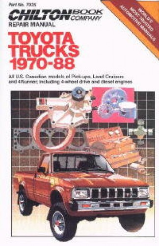 Chilton Toyota Trucks 1970-1988 Repair Manual