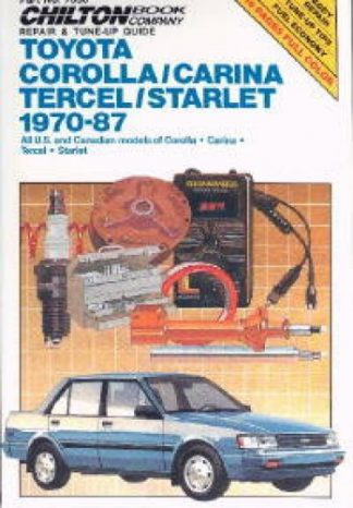 Used Chilton Toyota Corolla Carina Tercel Starlet 1970-1987 Repair Manual