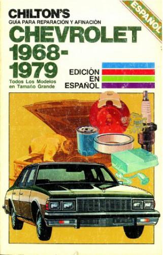 1968 1979 chevrolet caprice impala chilton manual spanish language used rh repairmanual com 2000 Chev Capri 2000 Impala Interior