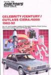 Chilton GM Celebrity Century Cutlass Ciera 6000 1982-1992 Repair Manual
