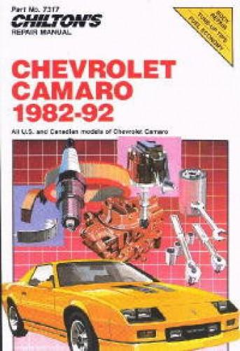 Chilton 1982-1992 Chevrolet Camaro Repair Manual
