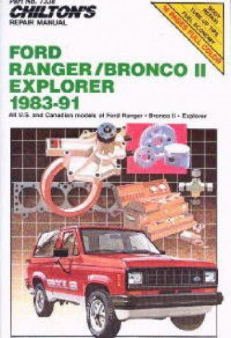 Chilton Ford Ranger Bronco II Explorer 1983-1991 Repair Manual
