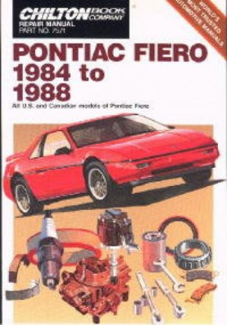 Chilton Pontiac Fiero 1984-1988 Repair Manual