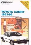 Chilton Toyota Camry 1983-1992 Repair Manual