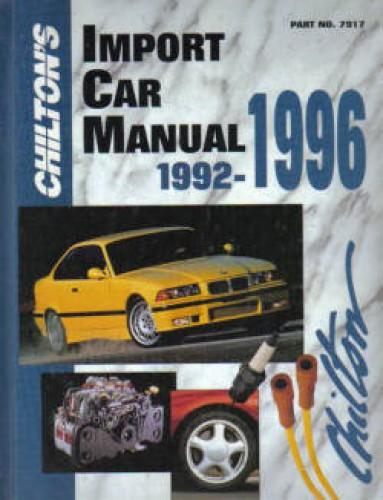 chilton import auto service manual