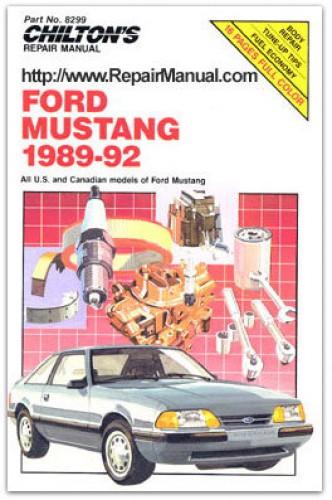 Used Chilton Ford Mustang 1989-1992 Repair Manual