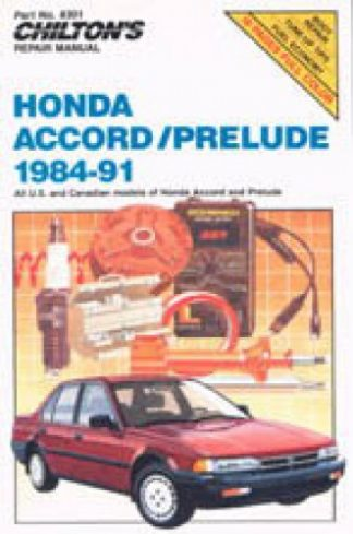 Chilton Honda Accord and Prelude 1984-1991 Repair Manual