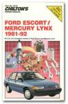 Chilton Ford Escort and Mercury Lynx 1981-92 Repair Manual