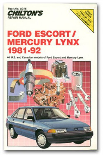 Chilton Ford Escort And Mercury Lynx 1981 92 Repair Manual