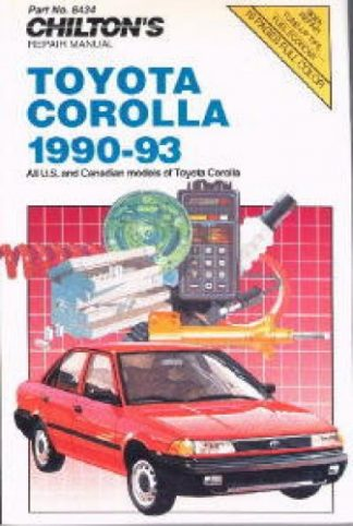 Chilton Toyota Corolla 1990-1993 Repair Manuals
