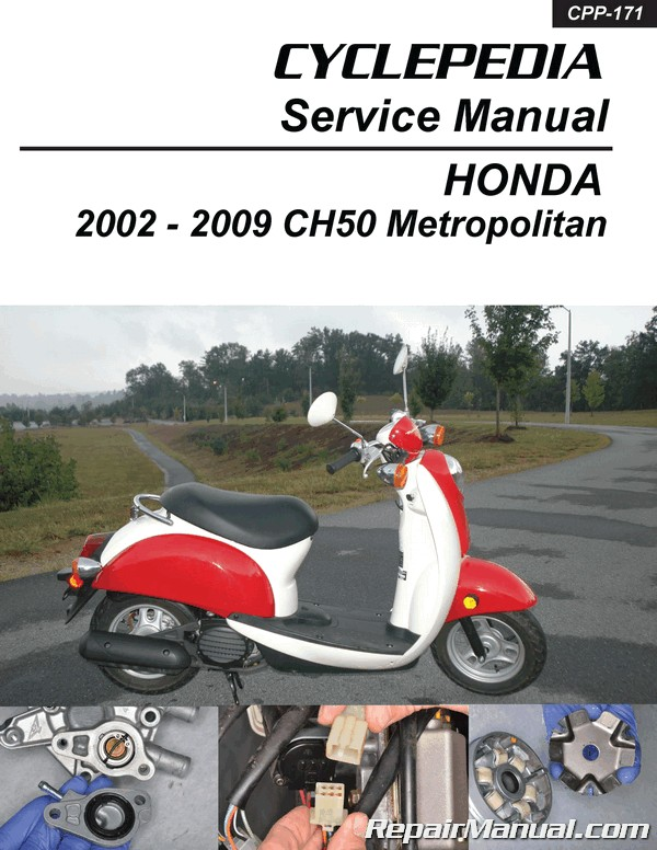 chf50 metropolitan honda scooter service manual printed by cyclepedia rh repairmanual com 2009 Honda Metropolitan Review 2009 Honda Metropolitan Scooter