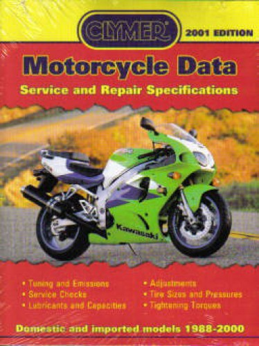 motorcycle data motorcycle tech book