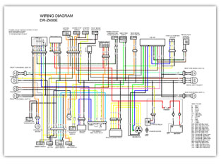 suzuki dr z400 color wiring diagrams repair manuals online suzuki dr z400 color wiring diagrams