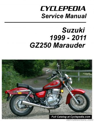 you're viewing: suzuki gz250 marauder cyclepedia printed motorcycle service  manual $36 95 $26 95