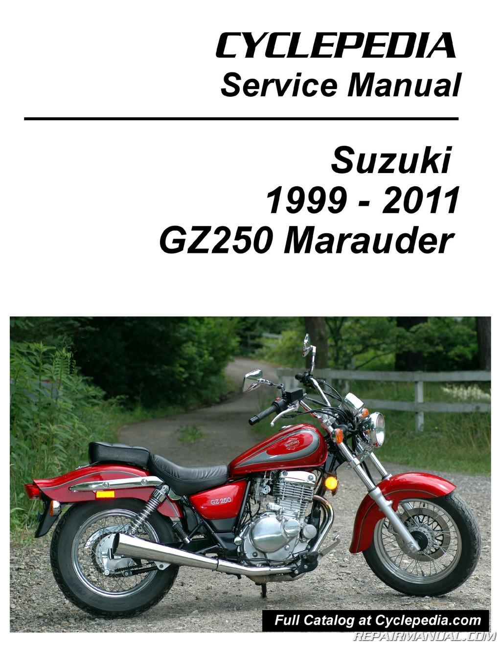 suzuki gz250 marauder cyclepedia printed service manual 800 426 suzuki gz250 marauder electrical system