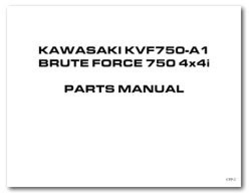 Parts Booklet for Kawasaki KVF750A Brute Force 4x4