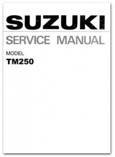 1972-1975 Suzuki TM250 Factory Service Manual
