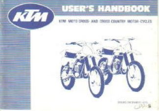 Official 1979-1980 KTM 125 175 250 400 Owners Handbook