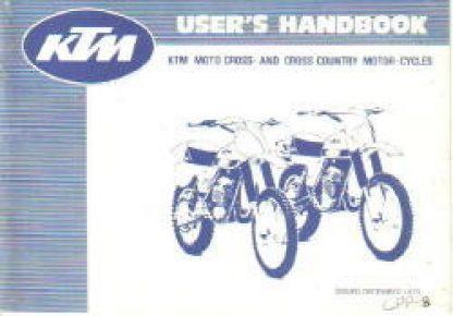 Official 1979-1980 KTM 125 175 250 400 Owners Handbook