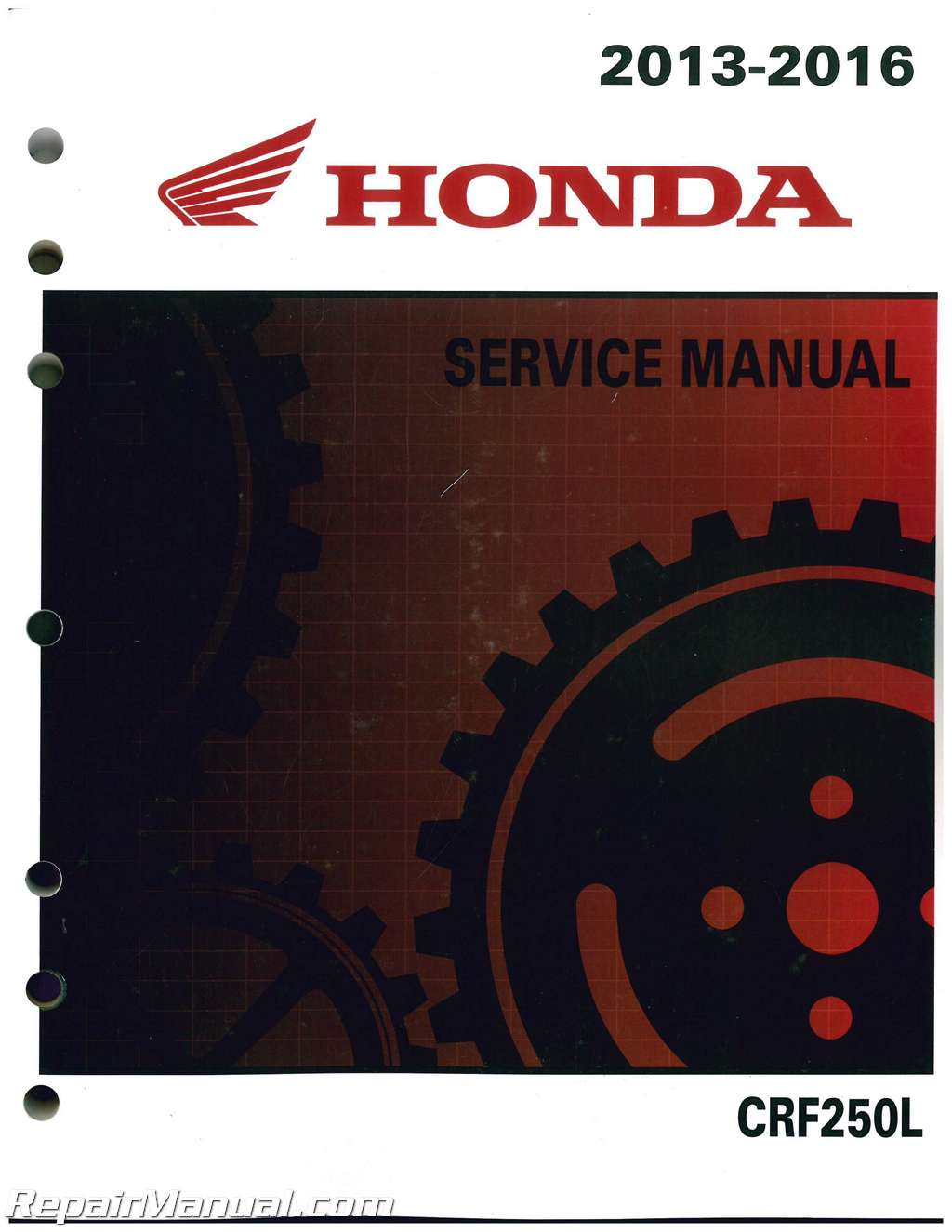 Crf250l Honda Motorcycle Service Manual 2013 2016