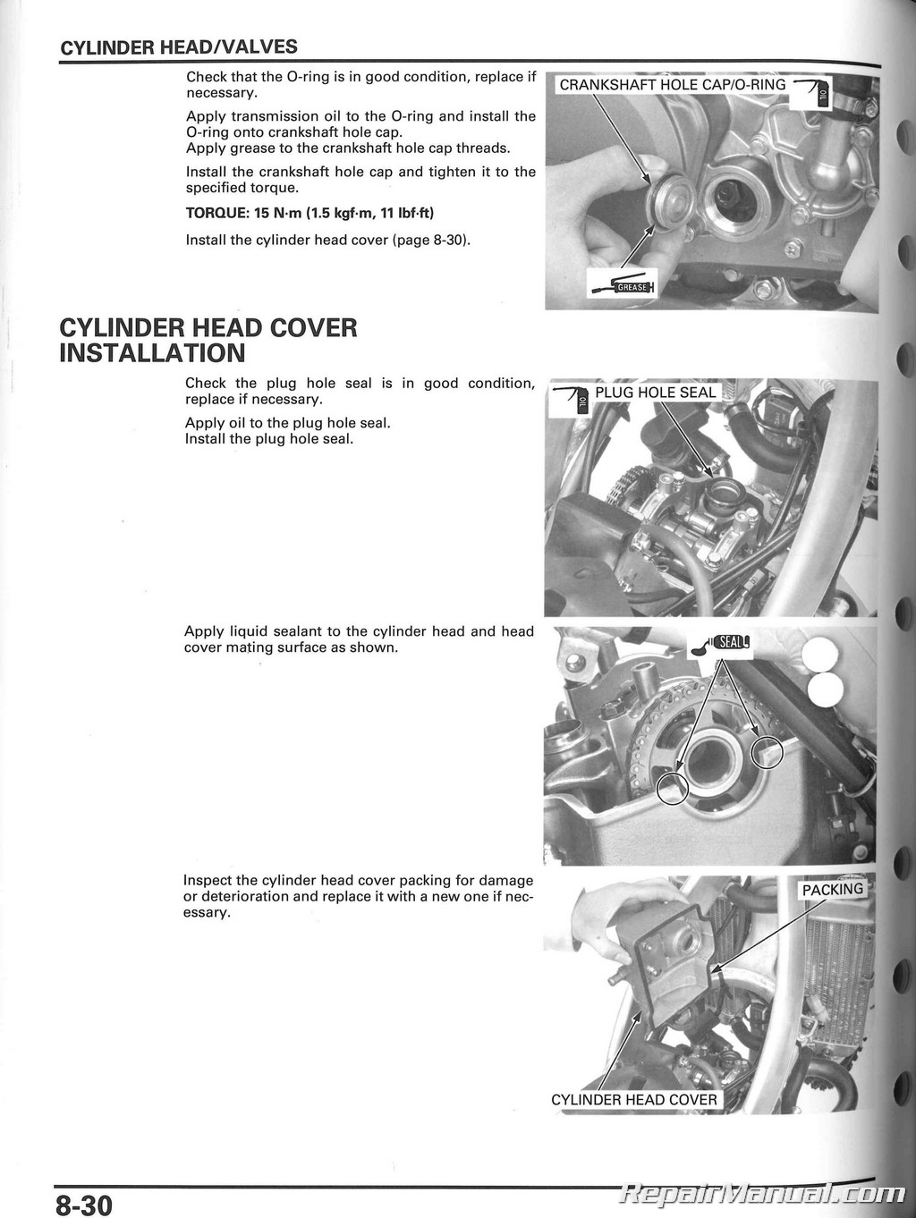 honda crf250x motorcycle manual service repair 2004 2009 2012 2015 rh repairmanual com 2012 Honda 250X 2012 honda crf250x owner's manual