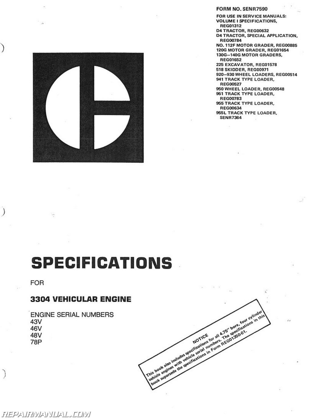 Array - caterpillar d4d crawler service manual rh repairmanual ...