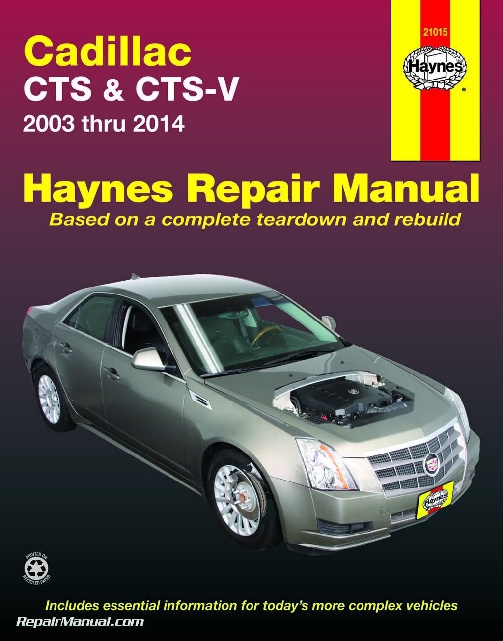 cadillac cts cts v 2003 2014 repair manual by haynes rh repairmanual com BMW Repair Manual Inspection Cadillac