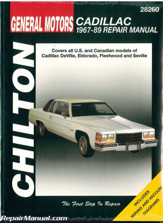 Cadillac deville eldorado fleetwood seville 1967-1989 repair manual.