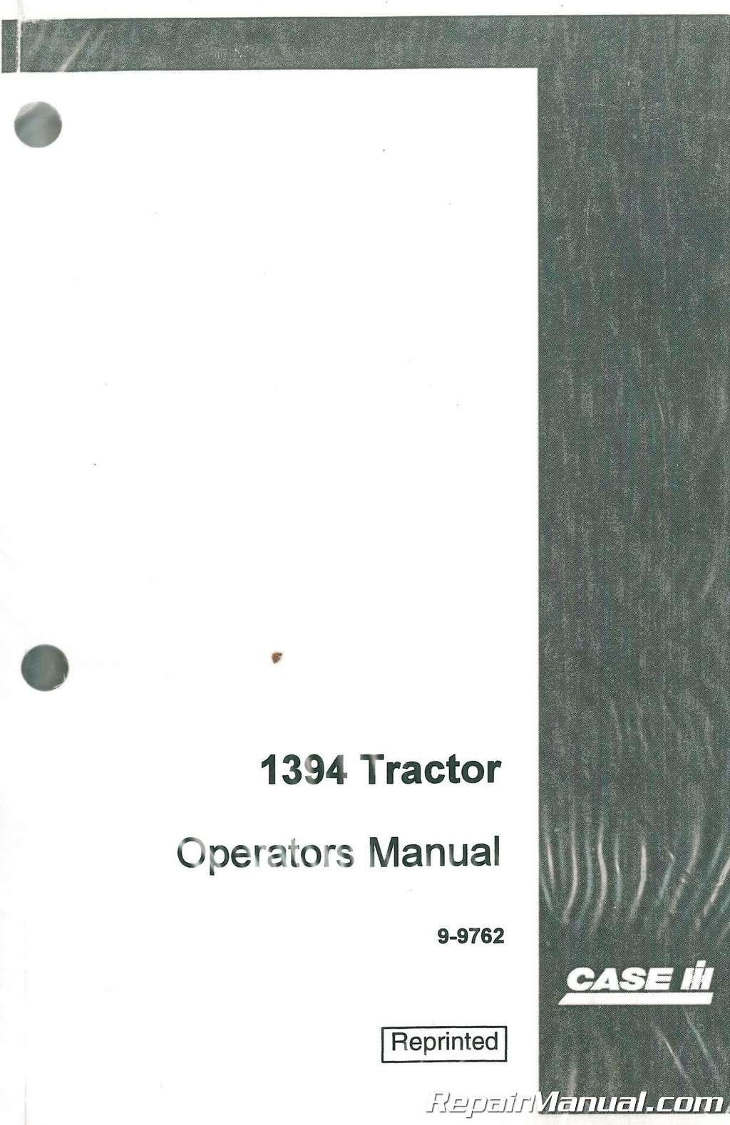 case 1394 owners operators manual rh repairmanual com 1394 Case T Case 1394 Salvage