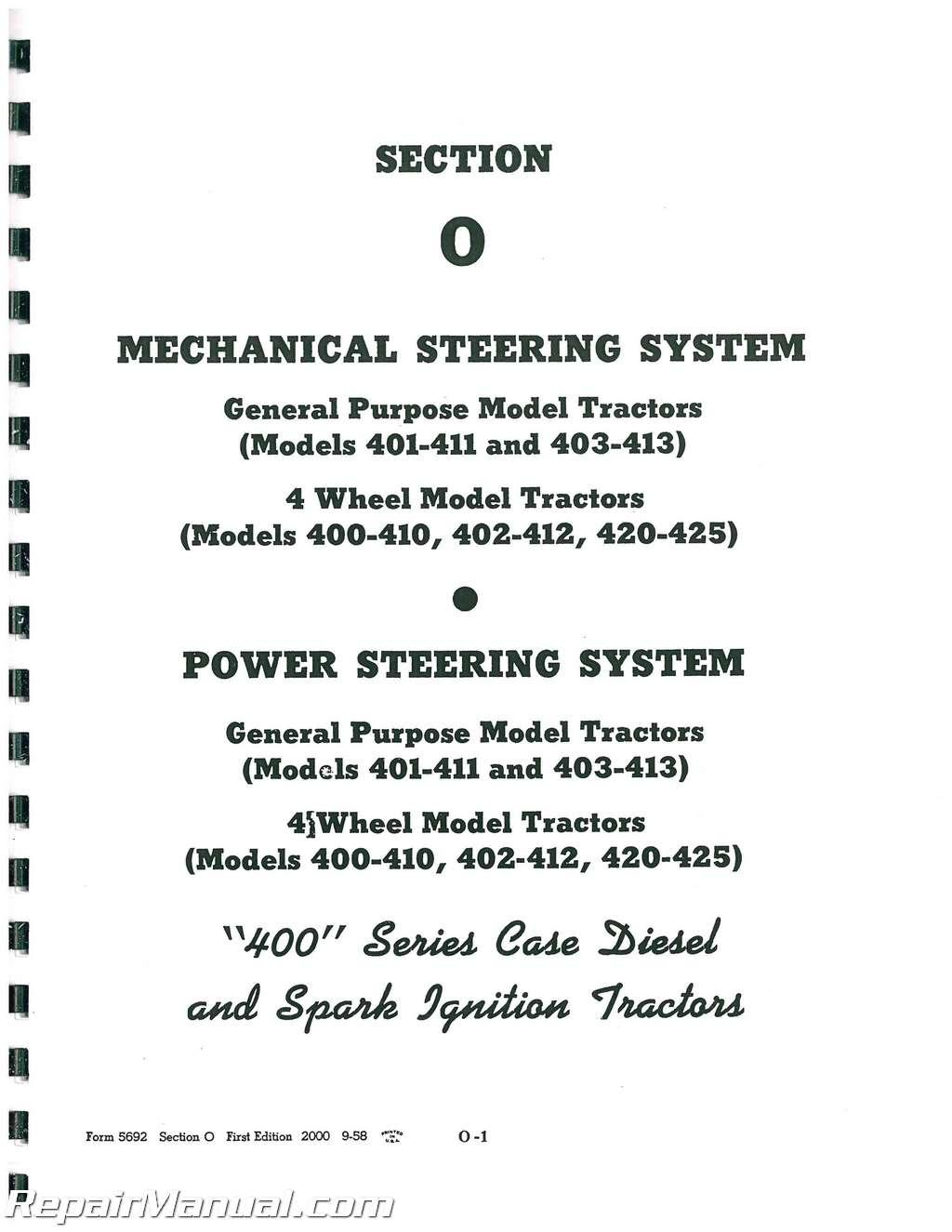 Case Gas Tractor Service Manual