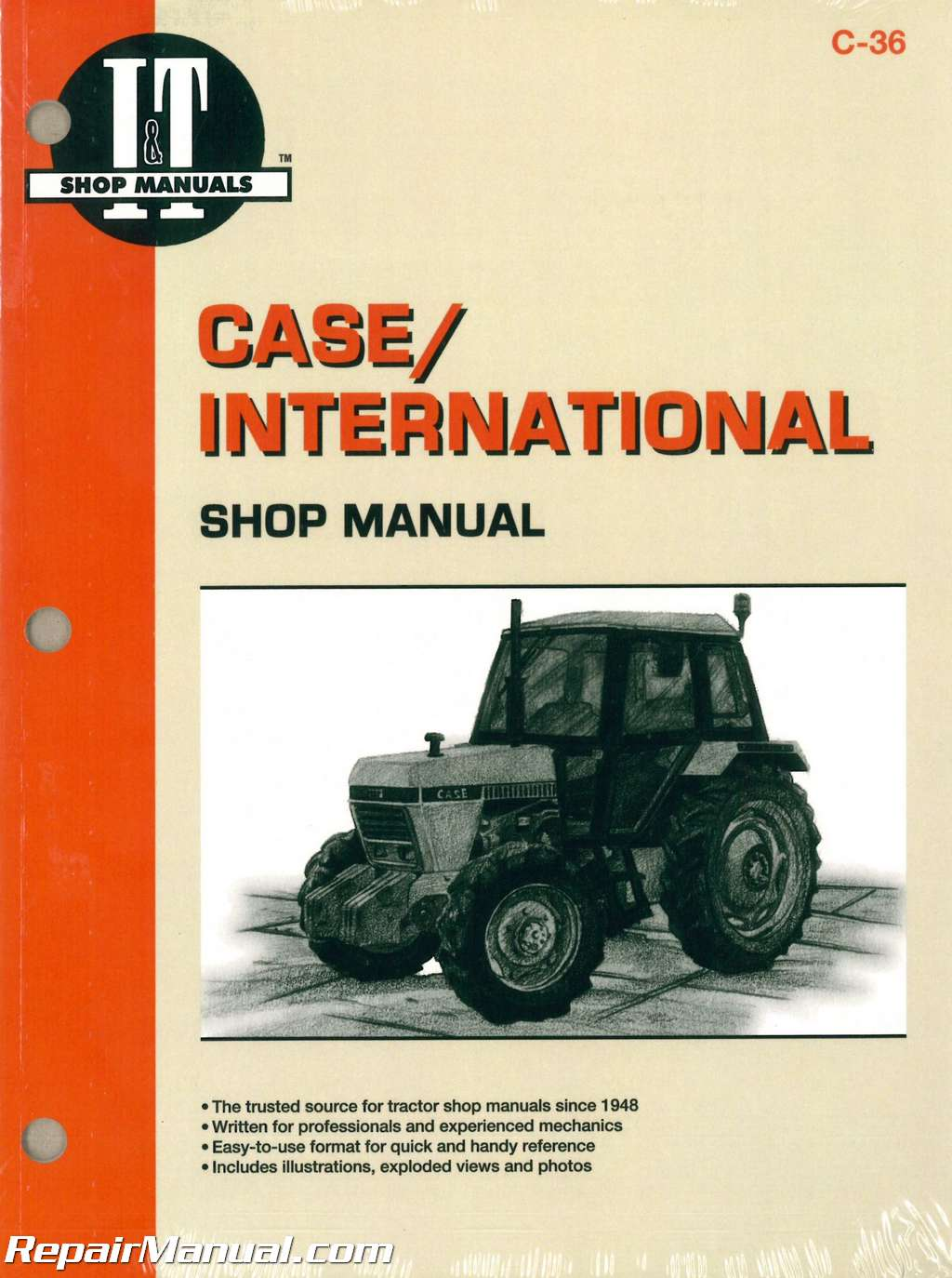 Case / International 1190 1194 1290 1294 1390 1394 1490 1494 1594 1690  Tractor Workshop Manual