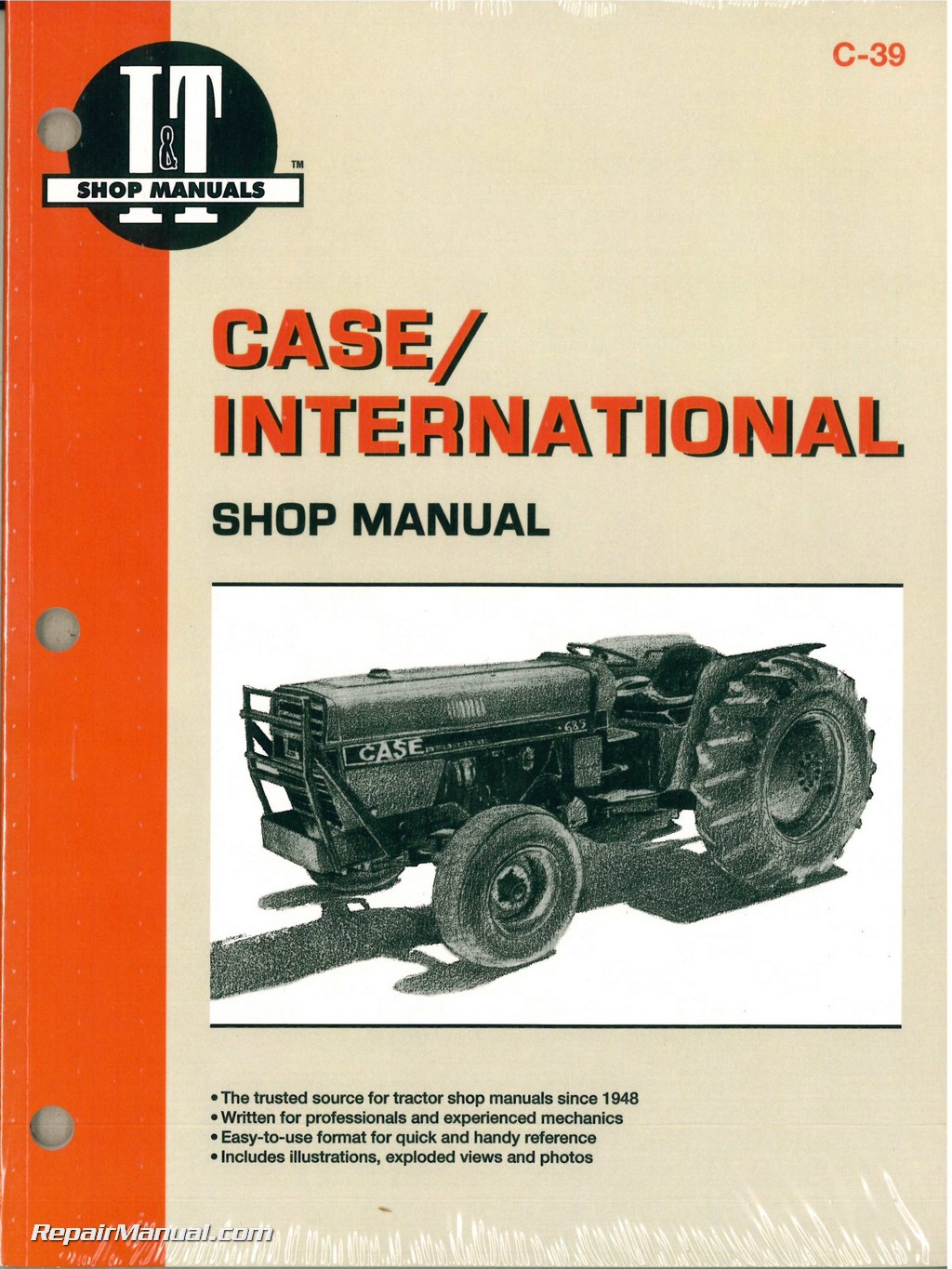 Case International 385 485 585 685 885 Tractor Workshop Manual case tractor manuals repair manuals online  at eliteediting.co