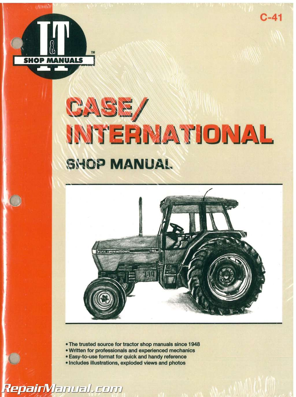 Case International 5120 5130 and 5140 Tractor Workshop Manual_001 case tractor manuals repair manuals online International Tractor Wiring Diagram at readyjetset.co