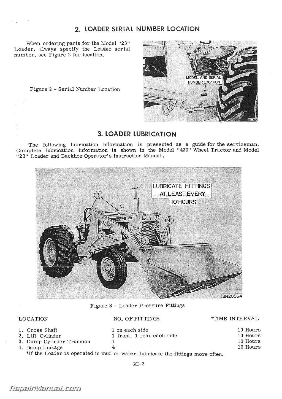 Case Backhoe Repair Manual : Case service manual b wheel tractor c