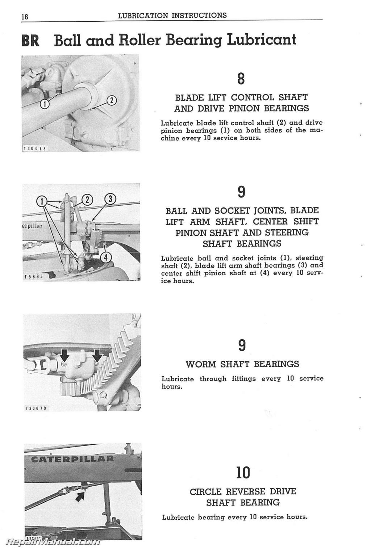caterpillar 112 motor grader operators maintenance manual rh repairmanual com C12 Caterpillar Engine Repair Manual Caterpillar Generators