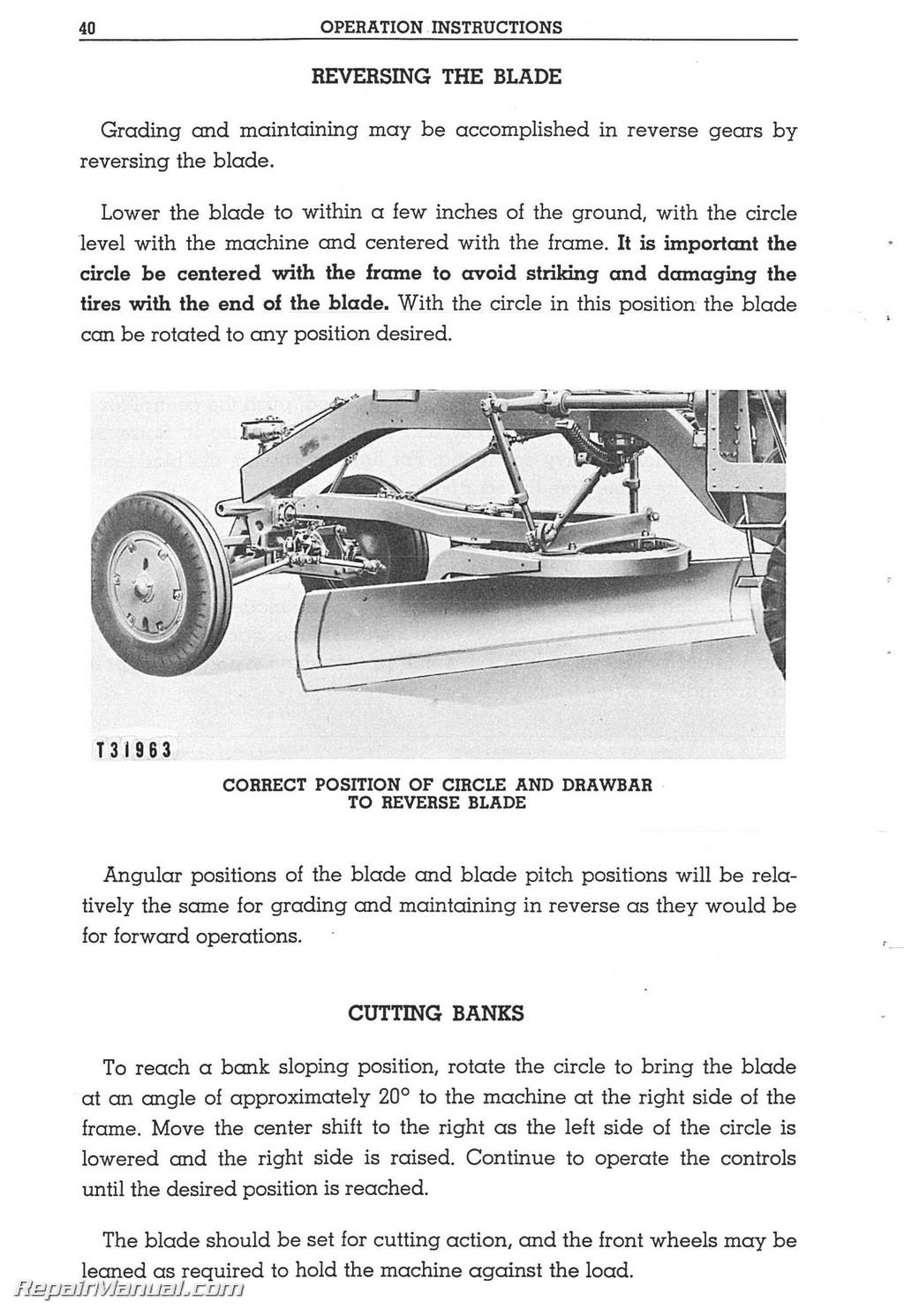 caterpillar 112 motor grader operators maintenance manual rh repairmanual com Manual Caterpillar Motores Caterpillar D4