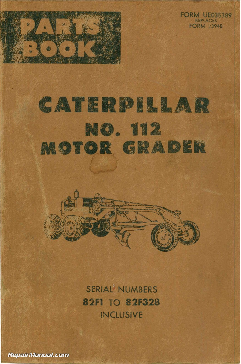Caterpillar 112 Motor Grader Parts Manual