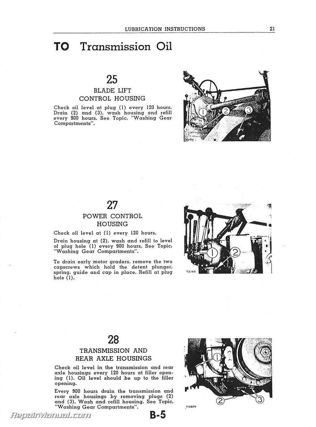 Caterpillar 212 Motor Grader Tractor Operators Manual