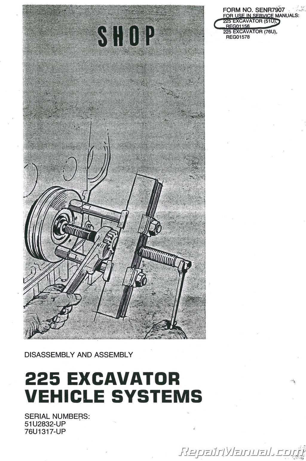 Caterpillar 225 Excavator Service Manual