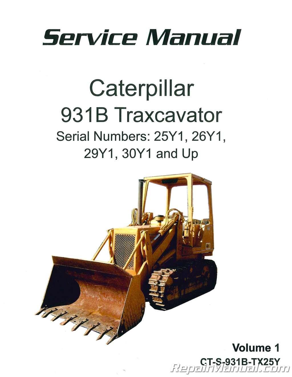 Caterpillar 931B Traxcavator Service Manual