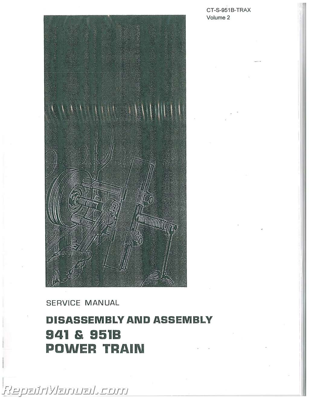 Caterpillar 951C 951B Traxcavator Service Repair Manual