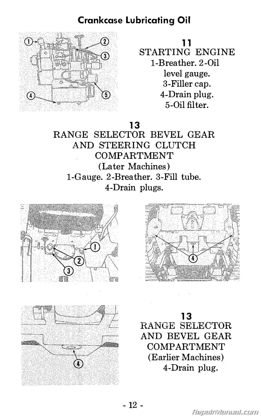 Caterpillar 955 Traxcavator Operators Handbook