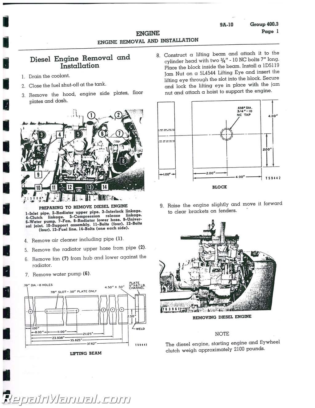 ... Array - caterpillar d4 d4d crawler service manual rh repairmanual ...