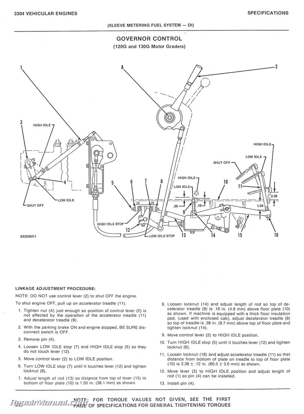 Caterpillar Grader  112f Service Manual