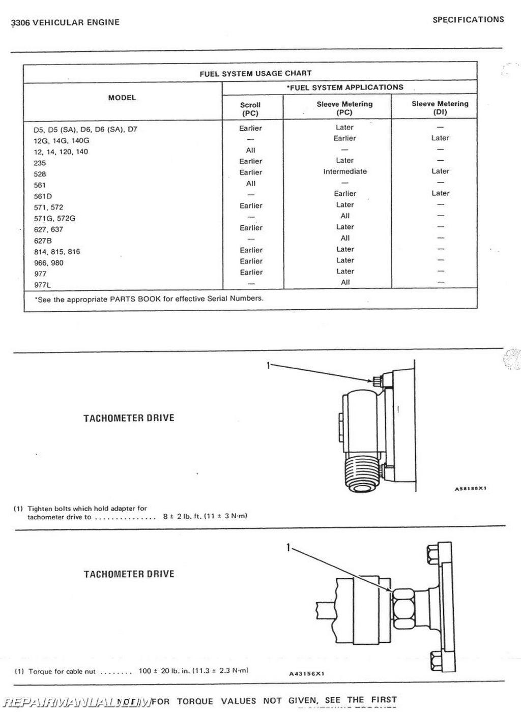 Caterpillar Grader #12F and 14E Service Manual