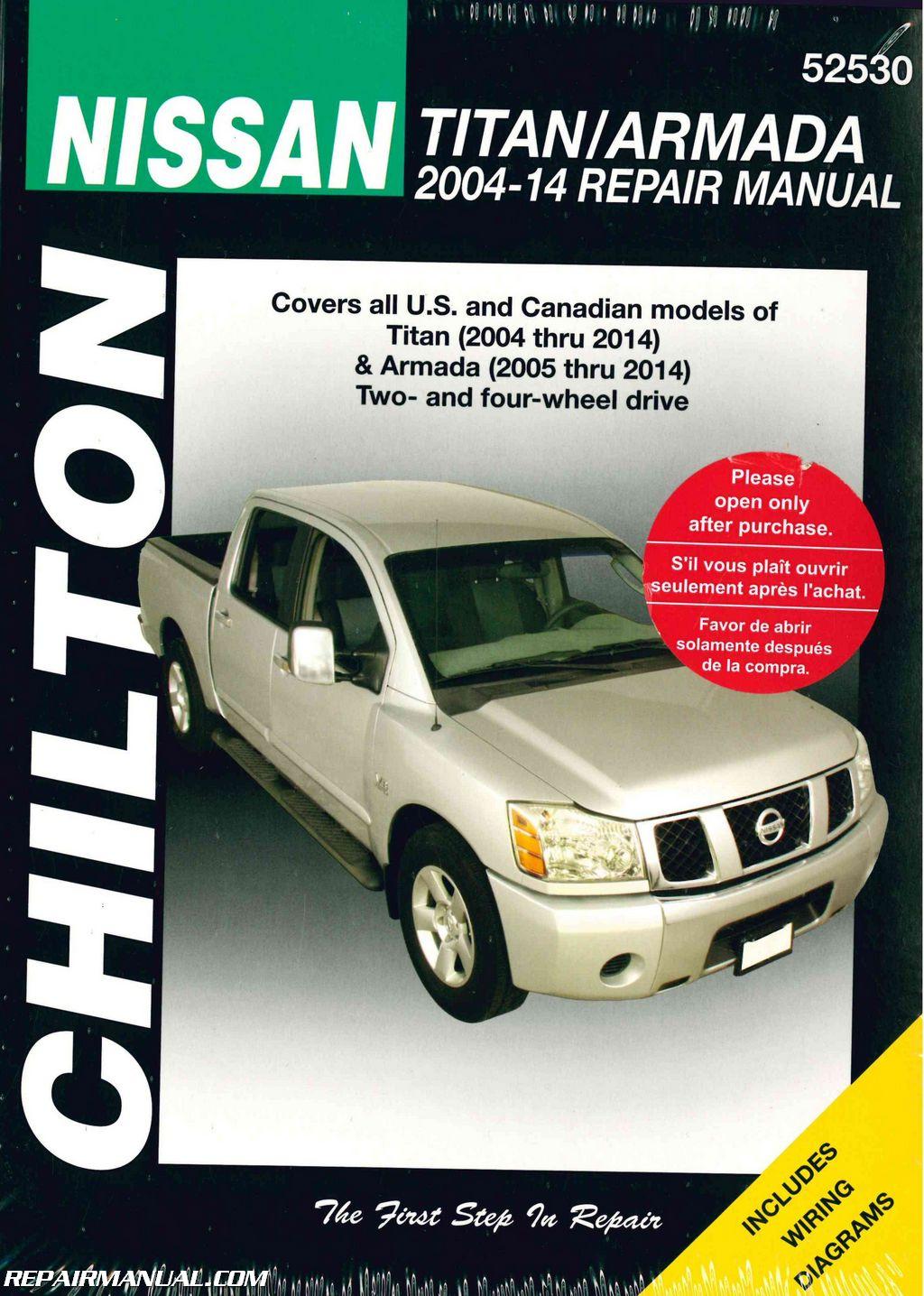 chilton 2004 2014 nissan titan 2005 2014 nissan armada truck repair rh repairmanual com 2007 nissan armada owner's manual pdf 2010 nissan titan owners manual