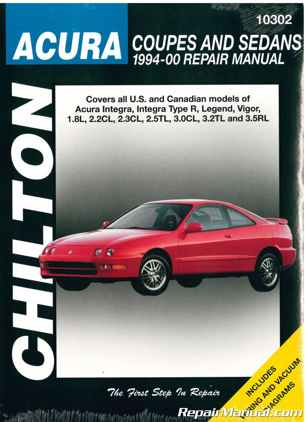 Chilton Acura Coupes And Sedans Repair Manual