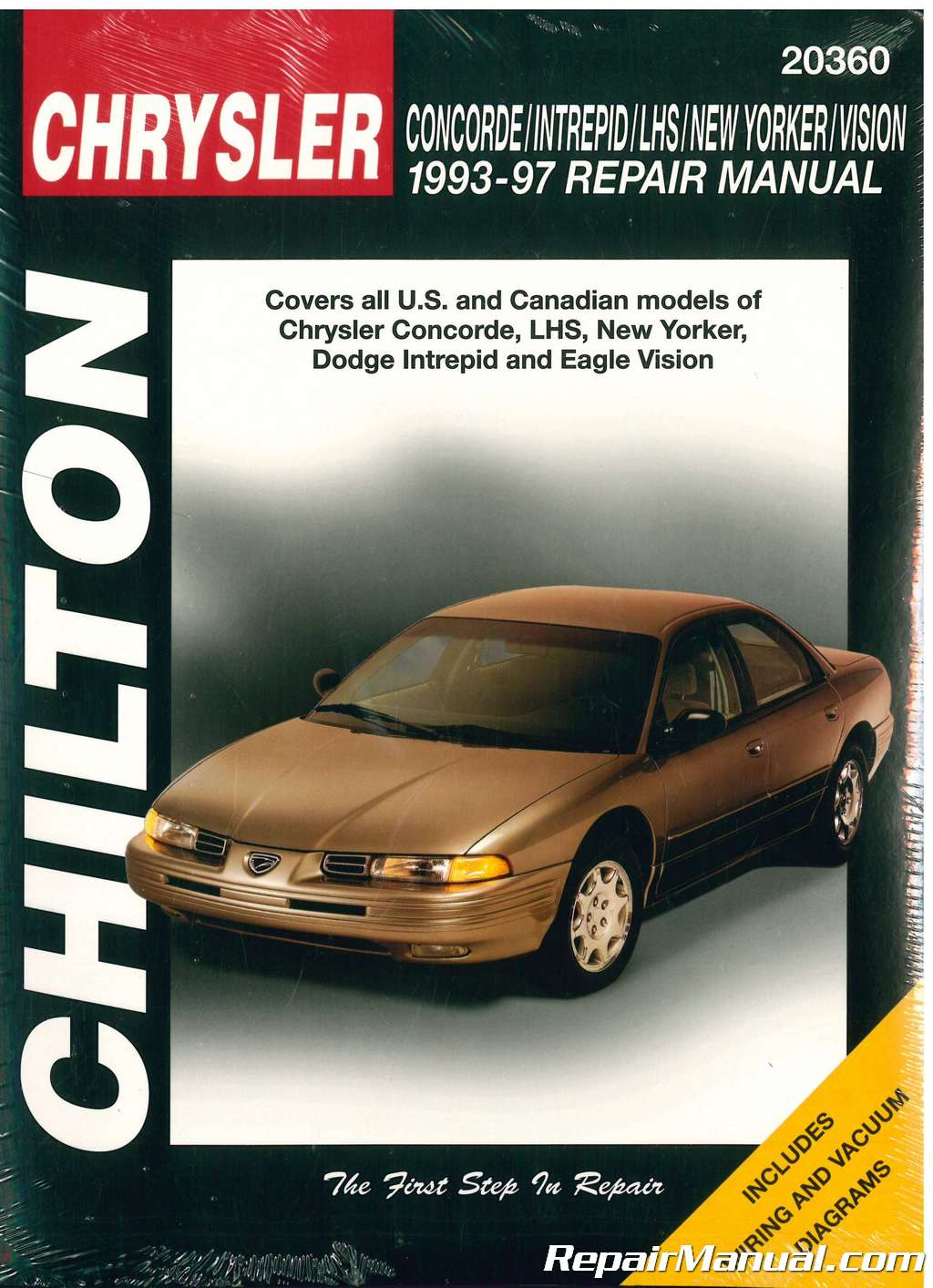 Chilton Chrysler Concorde Intrepid New Yorker Lhs Vision 1993 1997 1995 Wiring Diagram Repair Manual 001