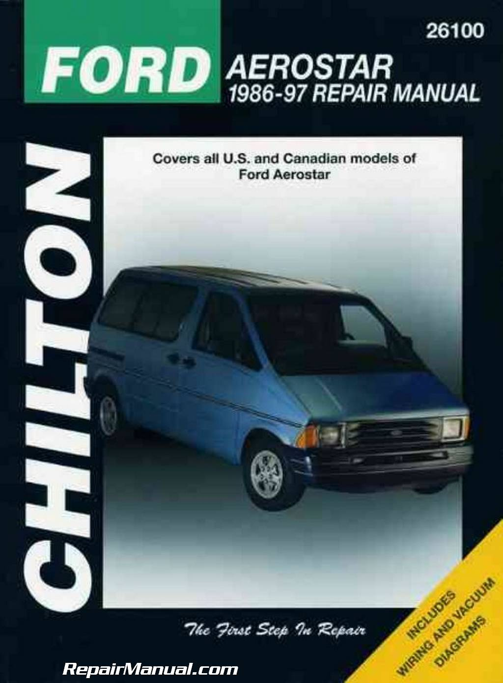 chilton ford aerostar 1986 1997 repair manual rh repairmanual com 1997 Ford  Aerostar Van 1997 Ford Aerostar Van